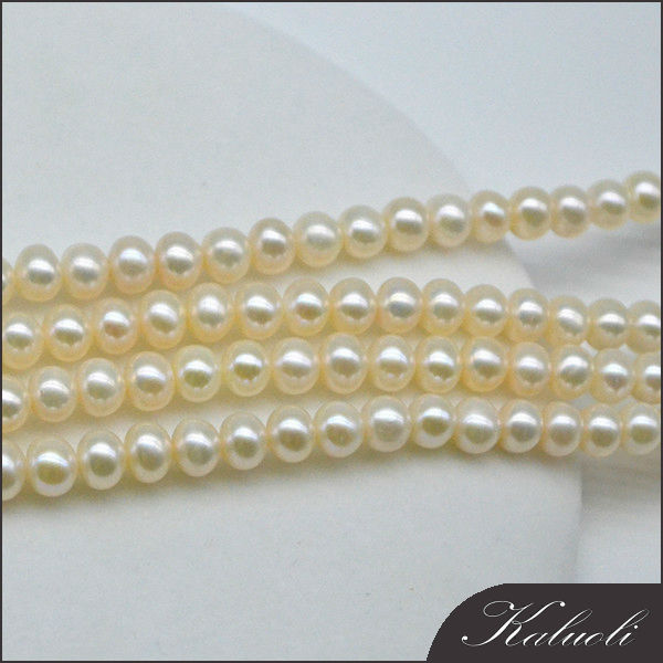 Nature bijoux 6-7mm genuine pearl string/perle for making jewelry