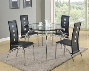 modern glass japanese solid wood dining table