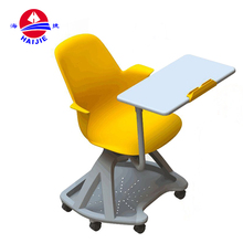 2017 Popular used design plastic school chair with writing board\armrest\pad