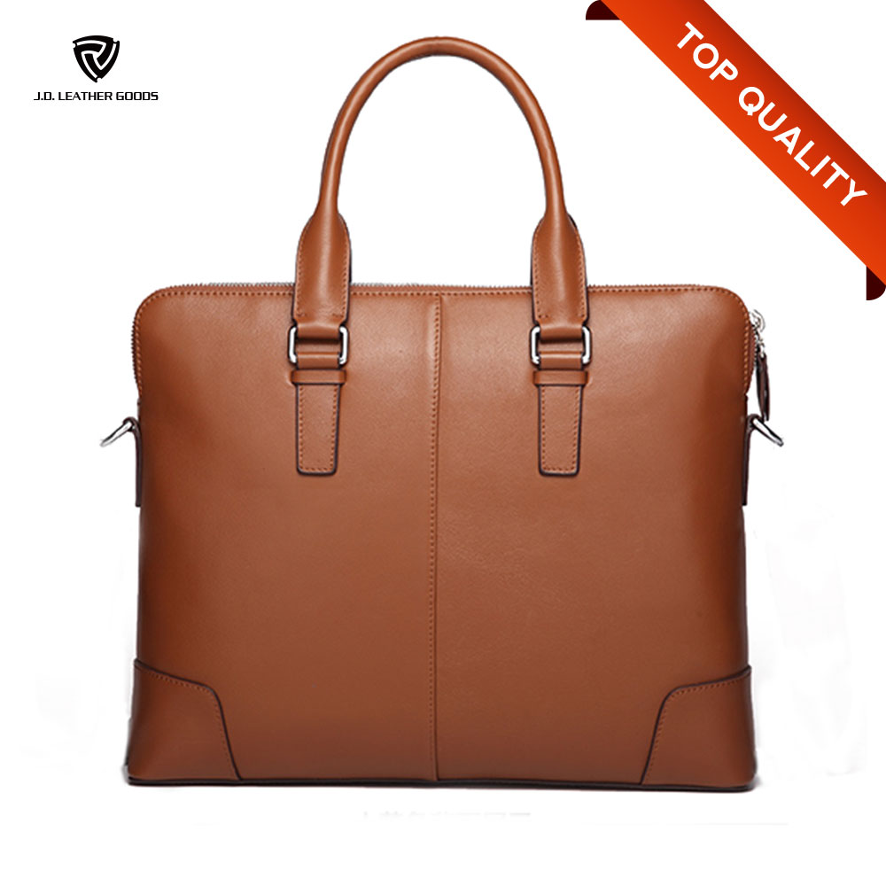 Brown Wholesale Men Genuine Leather Briefcase/Lawyer Business Leather Briefcase