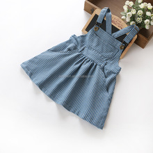 Baby Frock Design Pictures Dress Wholesale Infant Stripe Suspender Casual Girls Dresses