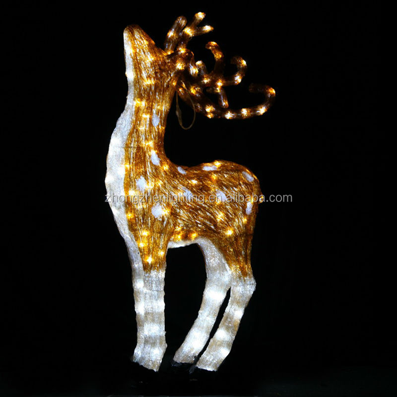 outdoor indoor led lighted standing acrylic christmas reindeer lights