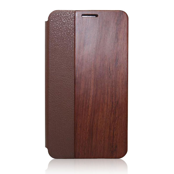 Real original wood phone case flip wooden leather case new design back cover for Samsung note3