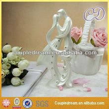 Romantic Kissing Couple Pottery Wedding Cake Toppers