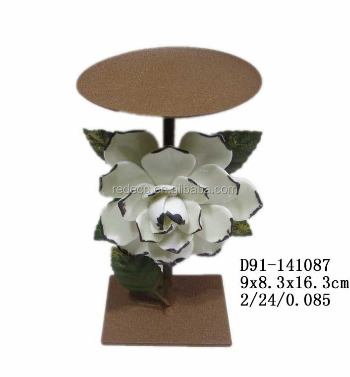 Antique ceramic porcelain flower for candle holder