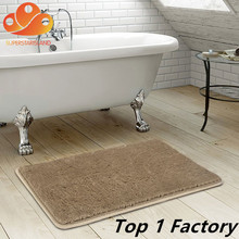 China Supplier Shaggy Bath Mat Rubber Absorbent Bathroom Indoor Mud