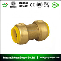 Lead Free cUPC NSF approved Pvc Brass Water Quick Connect Coupling