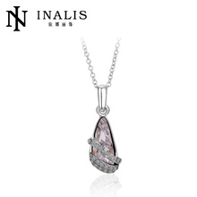 2012 fashion white gold plated colorful crystal shoes cheap necklace and pendants