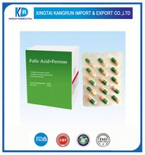 Folic acid supplementation Complex Vitamin B capsules with GMP certificate