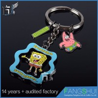 2016 Latest design cute tourist souvenir metal keychain hot sale
