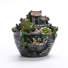 Hot selling painted garden decorative modern resin flower pot