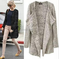 Z52097B New Fall And Winter Clothes Hot Sale Cardigan Knitting Loose Ladies Coat Women Sweater