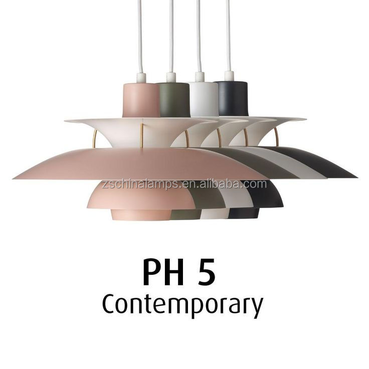 Aluminum PH5 pink pendant light Hot Selling Wholesale Louis Poulsen Lamp Denmark Modern Pendant Light for shopping mall