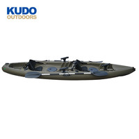China Factory Supply 3.8 M Two Person Sit On Top Rotomolded Fishing Kayak