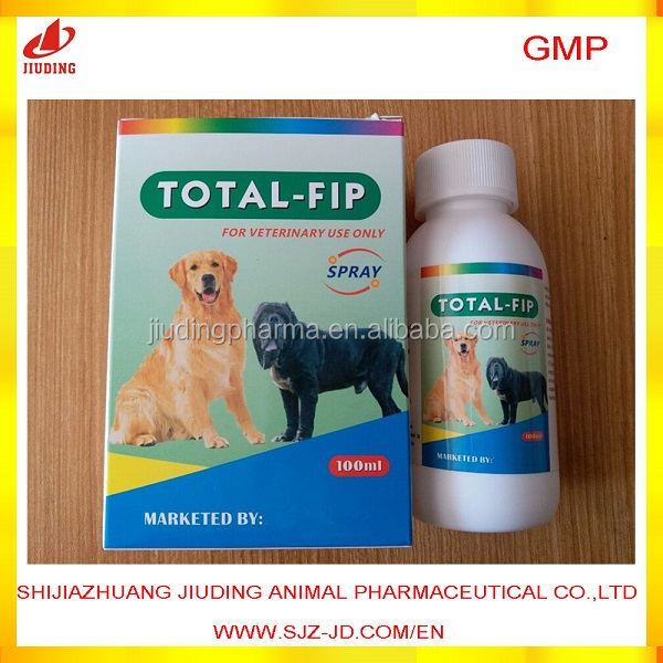Pharmaceutical Fipronil spray to kill flea and tick for animal use only