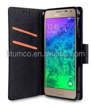 Wholesale newly design case,PU case,wallet case for Samsung Galaxy Alpha