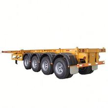 3 Axles Skeleton Chassis Container Carrier Trailer