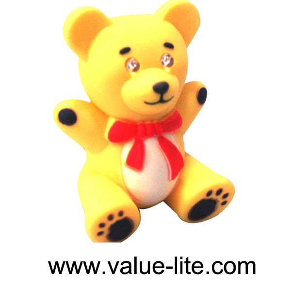 New product plastic bear led keychain light with sound button cell top selling products in alibaba