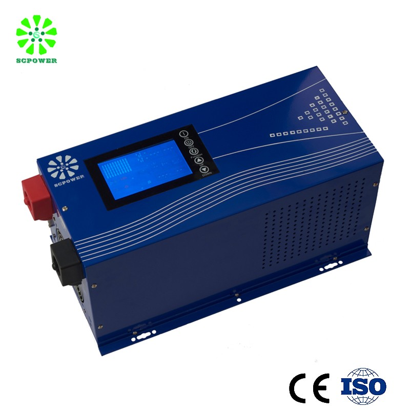 Pure sine wave solar hybrid inverter circuit diagram 2000w power inverter with 50a mppt charge controller