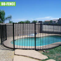 high safety Powder coated flat top iron/aluminum Pool Fencing with low price