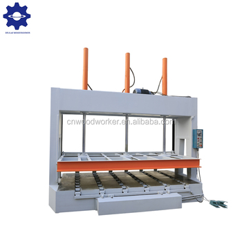Wood door automatic MJ50B Cold Press Wood Working Machine for lamination boards