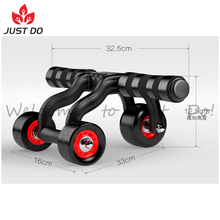 Abdominal Fitness Portable Exercise Equipment 3 Wheel Ab Roller