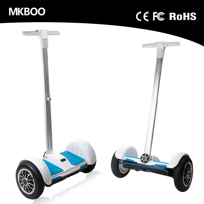 Handhold Standing Self Blancing Electric Motorcycle Scooter 2 wheel Hoverboard With LED Light Tao Scooter