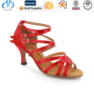 popular design fashion lady red latin dance shoes