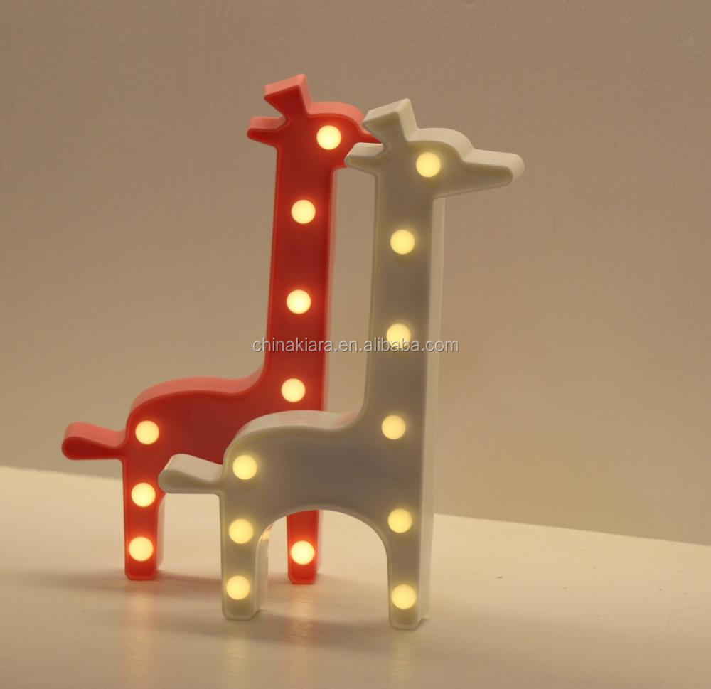 Night Light Christmas Holiday Gift White Giraffe Marquee lights