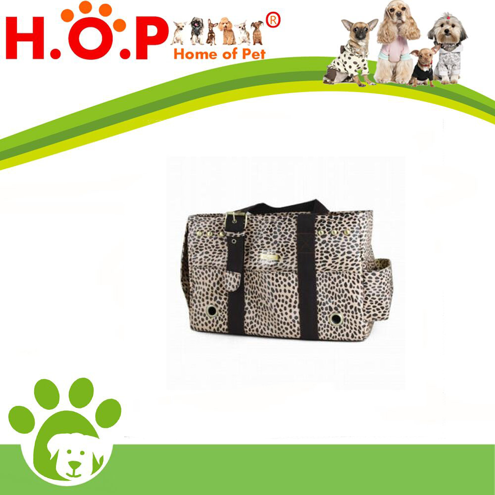 New brown leopard Pattern Dogs Carrier Bag Pets fashion bag Free Shipping