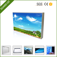 Outdoor Aluminum LED Frameless Fabric double sided outdoor light box