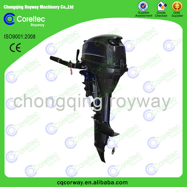 5hp- 40hp 4-stroke long/short shaft recoil/electric start 25hp gasoline outboard motor boat engine