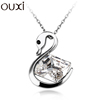 2015 Rhodium Plated Swan Kiss Necklace