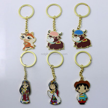 Promotional China style key chain/custom made metal keychains/metal enamel key chain