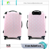 Wave pattern custom Printing hot sale remote control luggage carrier travelling children trolley wheel suitcase