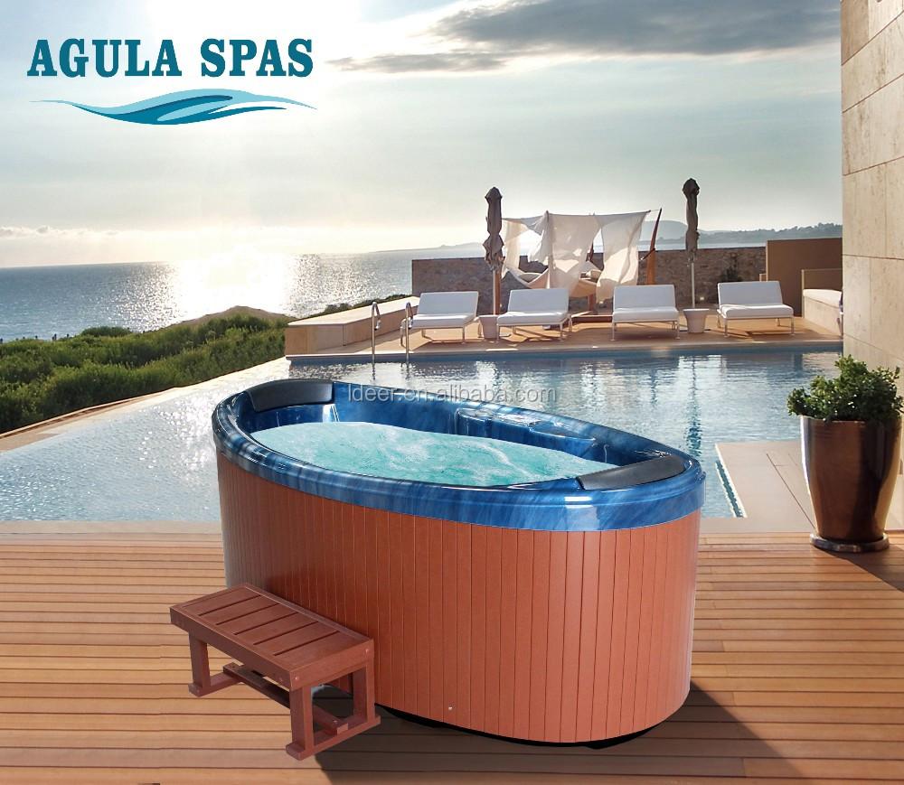 2 Persons freestanding acrylic whirlpool massage balboa system commercial portable hot tub outdoor spa