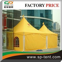 Promotional display new design luxury Orange Color Chinese Pavilion pagoda tent 3x3m, 4x4m, 5x5m, 6x6m wholesale