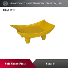 New product porcelain decoration boat shape plate