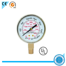 50mm high low pressure gauge 100/200/400psi Y50 gauge manometer