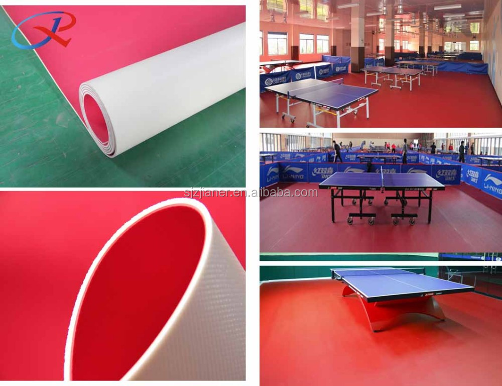 red color anti slip gerflor taraflex table tennis flooring