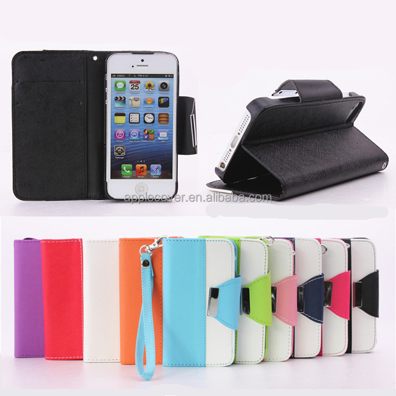 Hybrid color holder flip wallet case for <strong>apple</strong> i phone5s