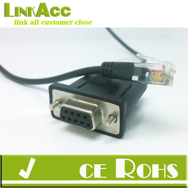 Linkacc-RS-4 APC Molded DB9 RS232 MALE TO RJ11 6P6C PHONE JACK PLUG ADAPTER CABLE 6FT