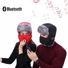 Wholesale Earflap Winter Hat Bluetooth Earphone with Mic Ski Face Mask Hat