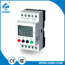 GINRI JVR800-1 Over/Under Voltage Monitoring Relays 3 Phase LCD Voltage Protective Relay 200-500VAC