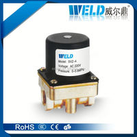 plastic solenoid valve ac 220v, manual solenoid valve, solenoid valve with manual set