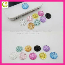 Rhinestone Crystal Diamond Home Button Colorful Bling Sticker for apple iphone 4 4S 5 Hot Selling
