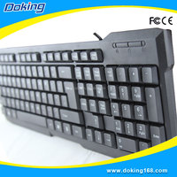 Plastic stock products USB interface type laptop keyboard