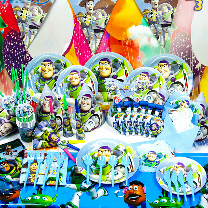Famous toy story theme Cartoon themed Tableware children love Birthday decoration Party Set