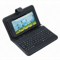Universal USB/mini USB/micro USB Keyboard + PU Leather Case for 7 inch 7'' Android Tablet PC PDA MID EPAD KKB037