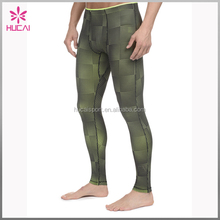 Dry Fit Wholesale Mens Sports Wear Custom Sublimation Printed Gym Legging Running Tights